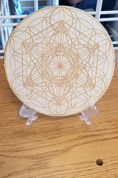 Handmade Wood Crystal Grids