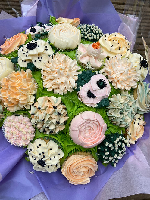 Cupcake bouquet of 19 cupcakes