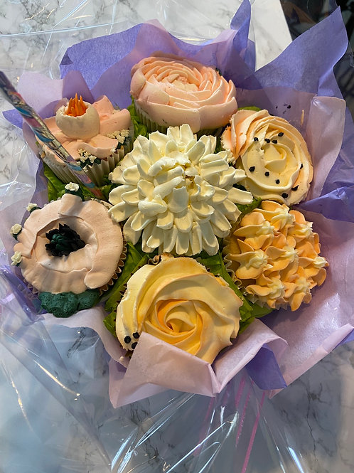 Cupcake bouquet of 12 cupcakes