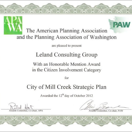 Leland Consulting Group Receives Honorable Mention