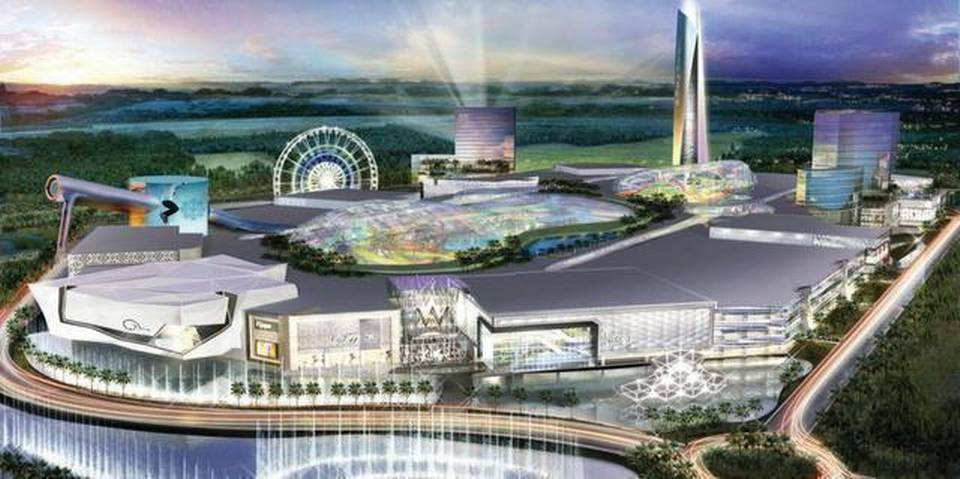Rendering of the American Dream Miami Mall by Mall of America owners, Triple Five.