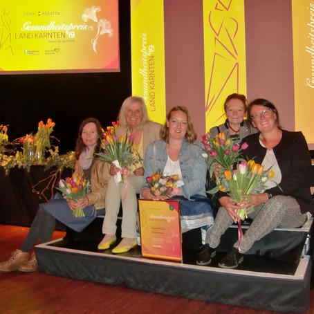 """Auszeichnung der """"Gesunden Gemeinde"""" Mörtschach beim Gesundheitspreis 2019"""