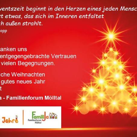 FamiliJa wünscht frohe Weihnachten