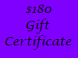 Gift Certificate for $180 Value