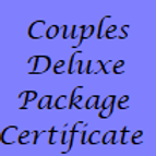 Couples Deluxe Pamper Package Gift Certificate