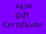 Gift Certificate for $450 Value