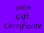 Gift Certificate for $160 Value