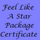 Feel Like a Star Pamper Package Gift Certificate