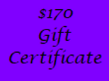 Gift Certificate for $170 Value