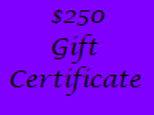 Gift Certificate for $250 Value