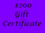 Gift Certificate for $200 Value