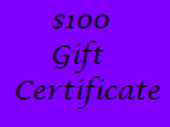 Gift Certificate for $100 Value