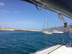 Anchoring of Isla de Lobos