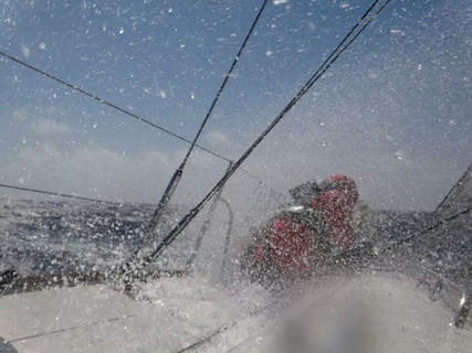 Splash at the bow!
