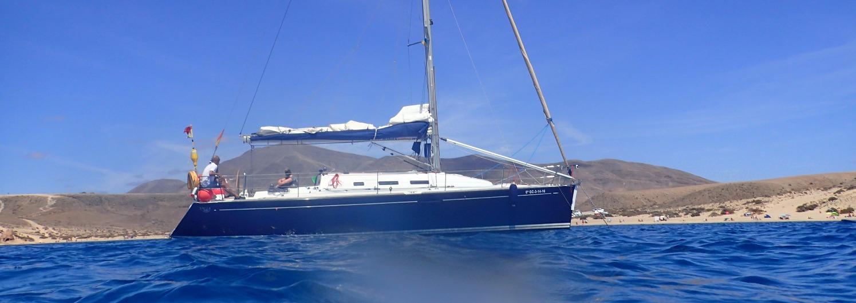 Yalla at anchor