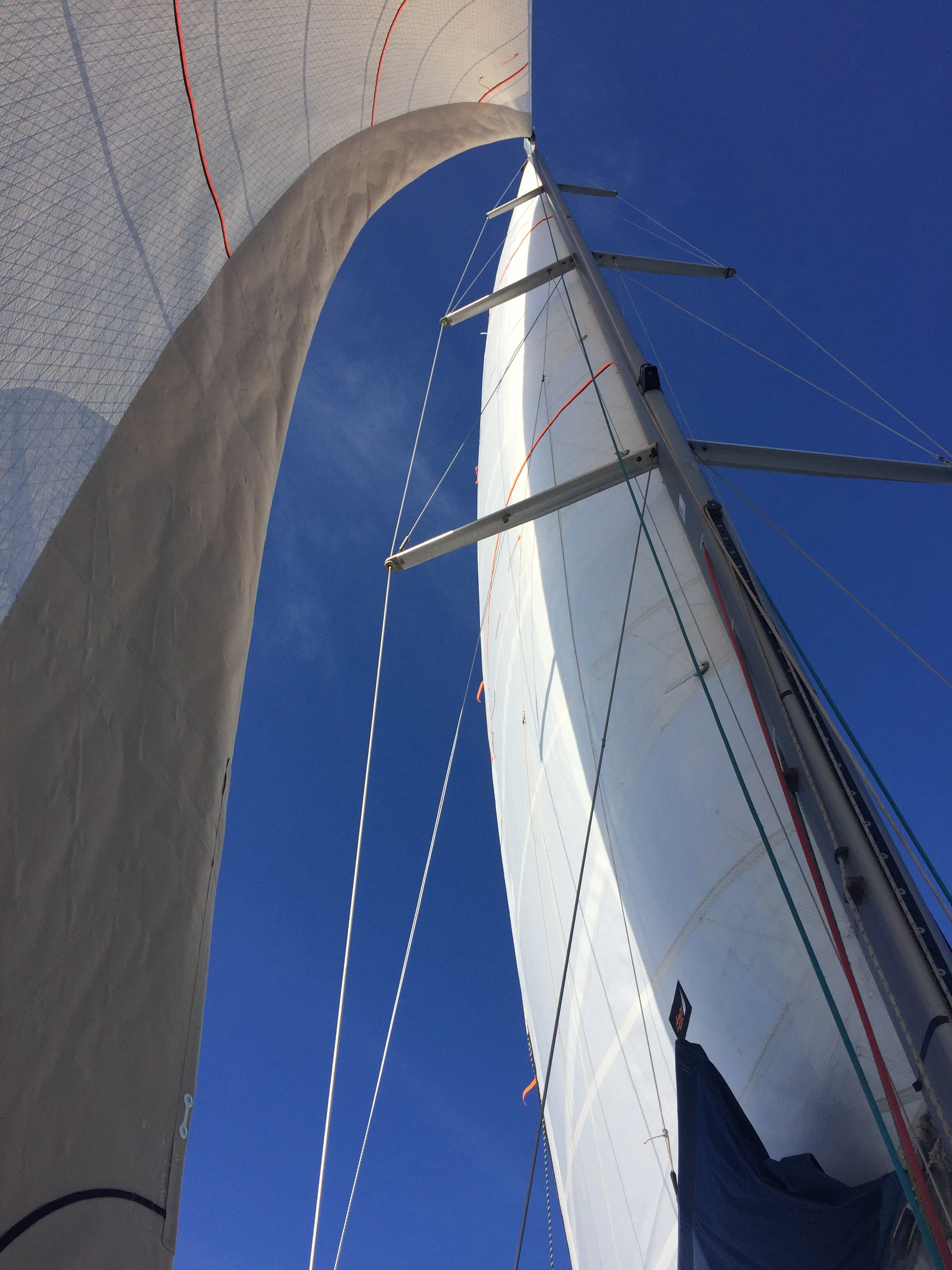 Brand new sails for Yalla