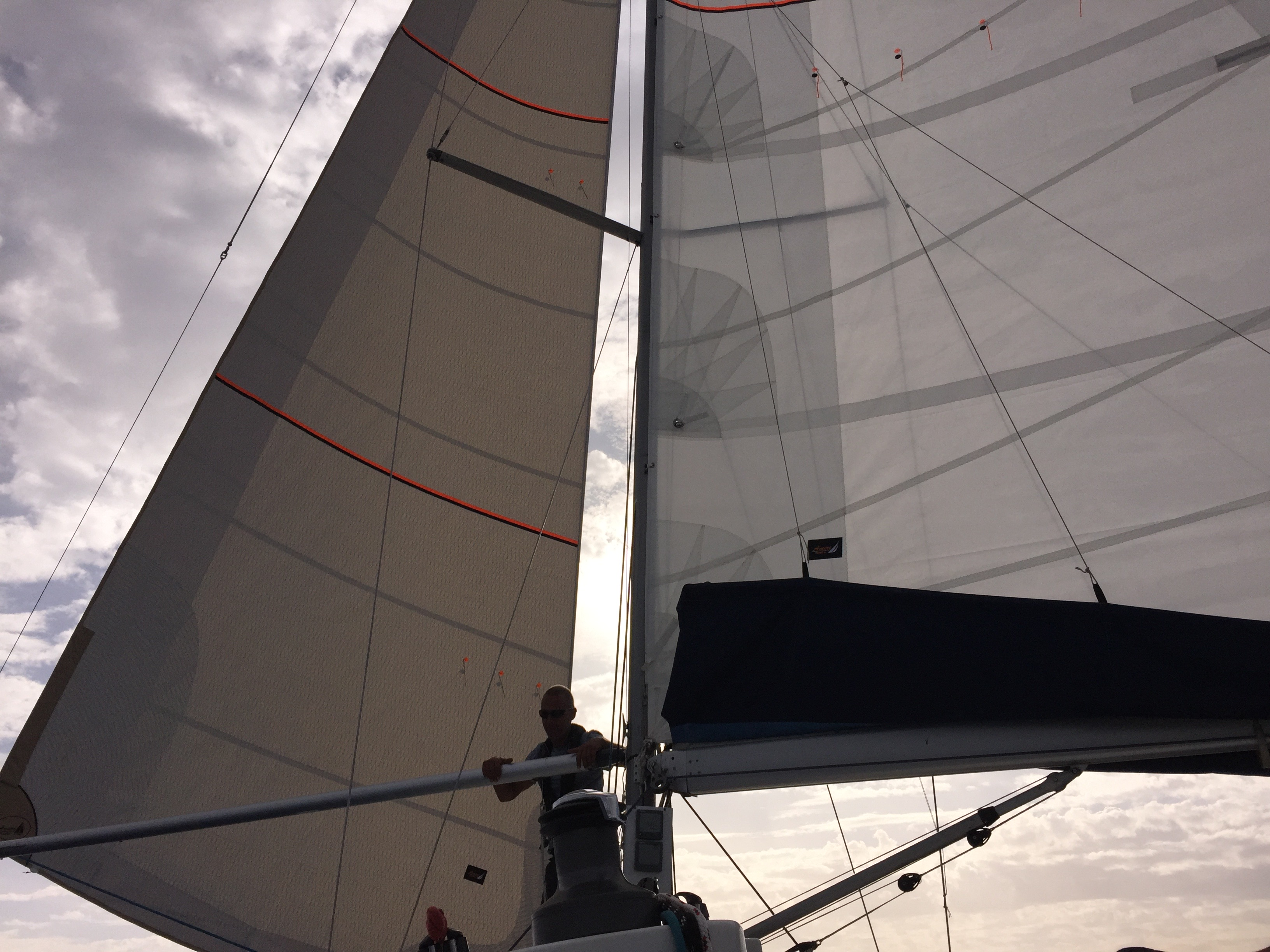 Yalla's brand new sails