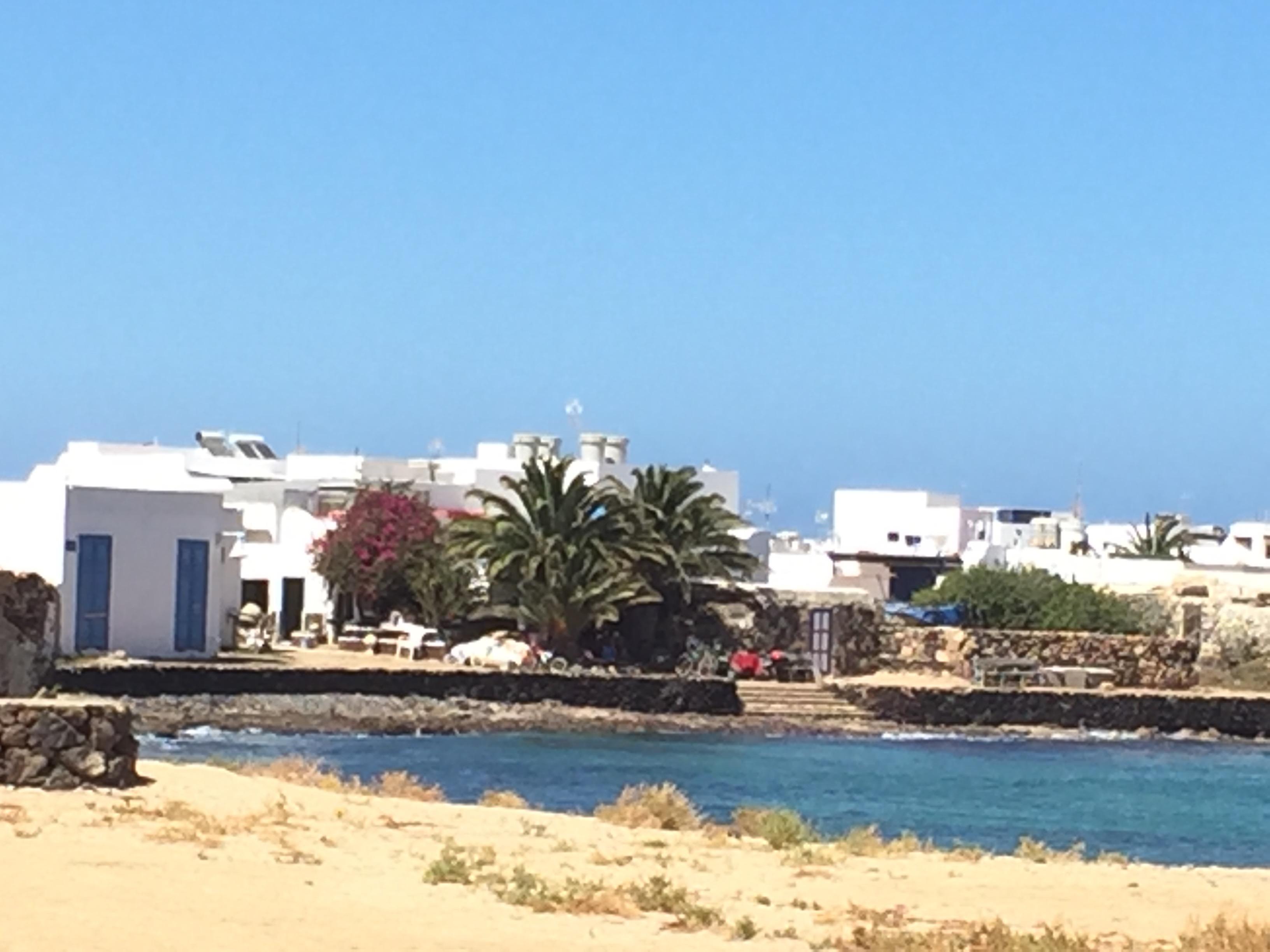 The village in Isla la Graciosa