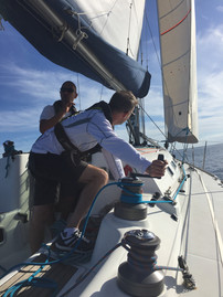 Winching and trimming the sails