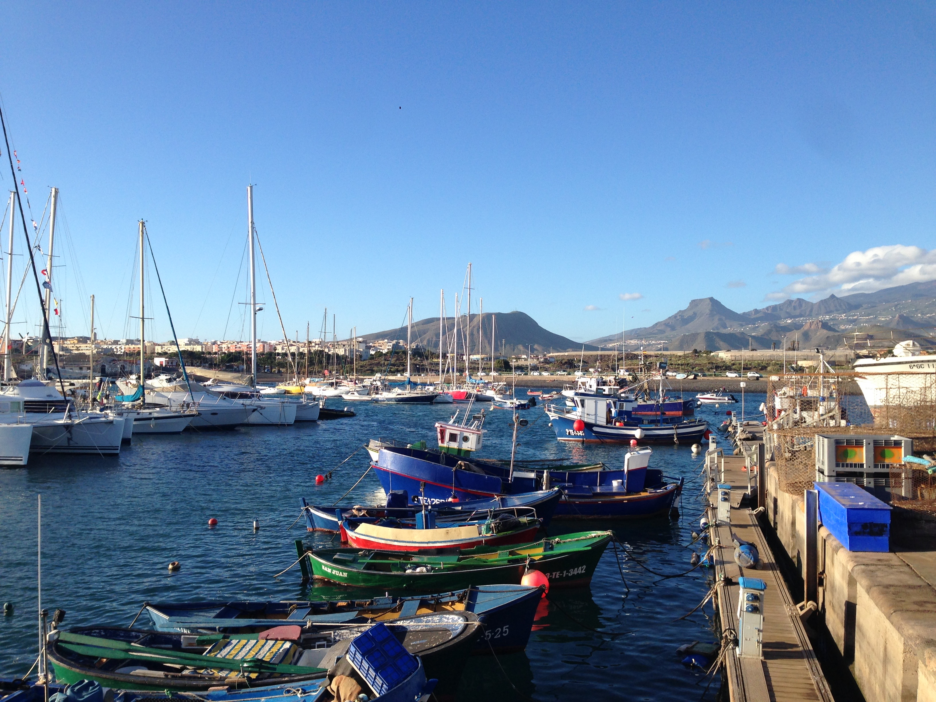 Tenerife Sur Fishermens boats