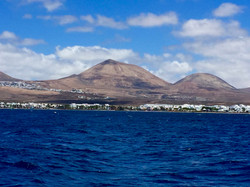 View of Lanzarote from the Atlantic