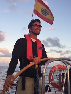 Enjoying the sailing experience