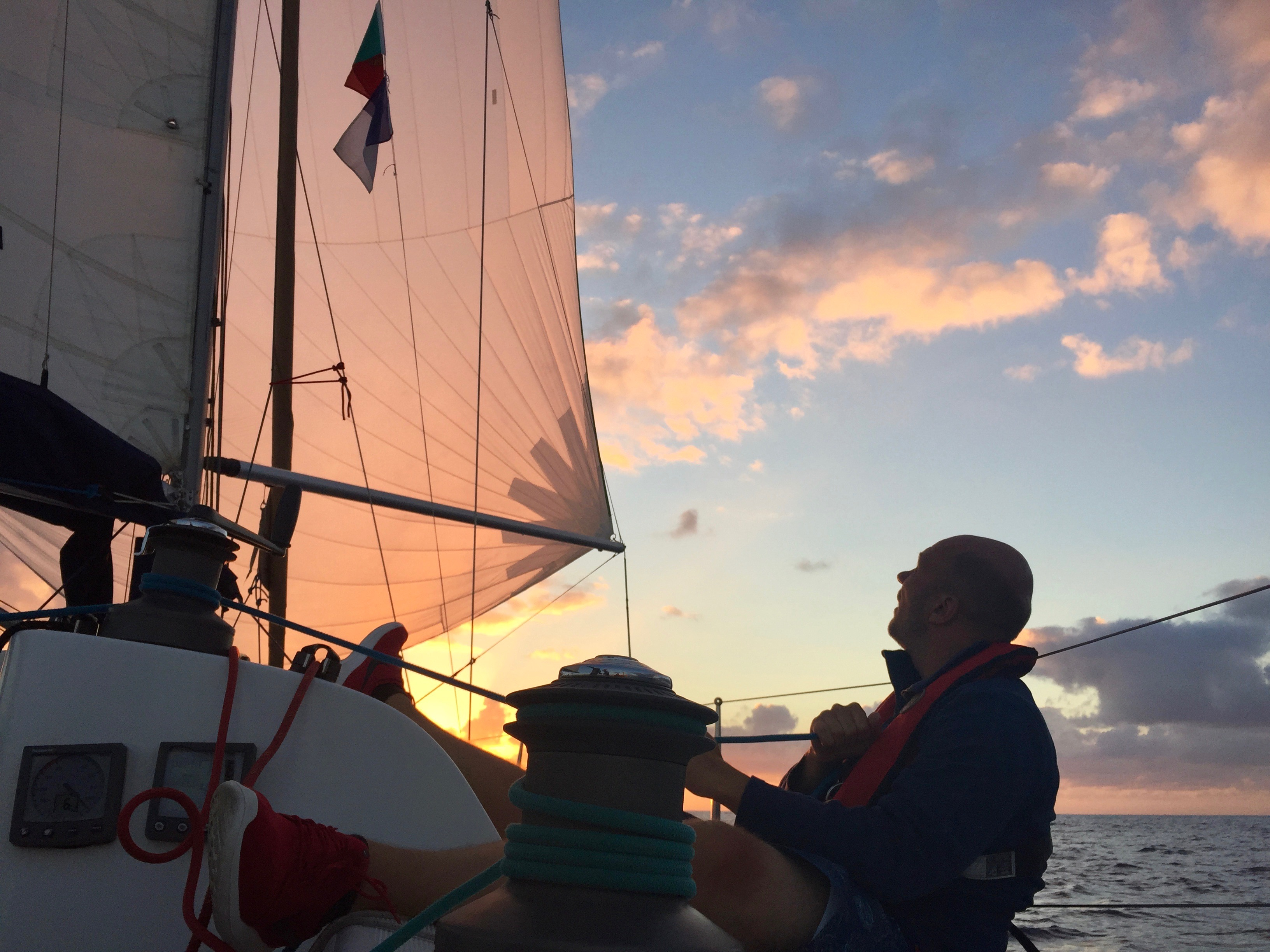 Trimming the spinnaker