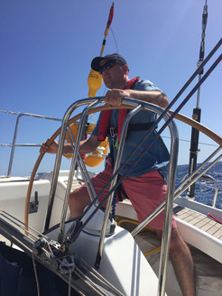 Helming and boat handling training