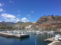 One of the marinas in the Canaries