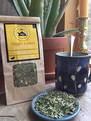 Ginger Lemon Herbal Tea Blend