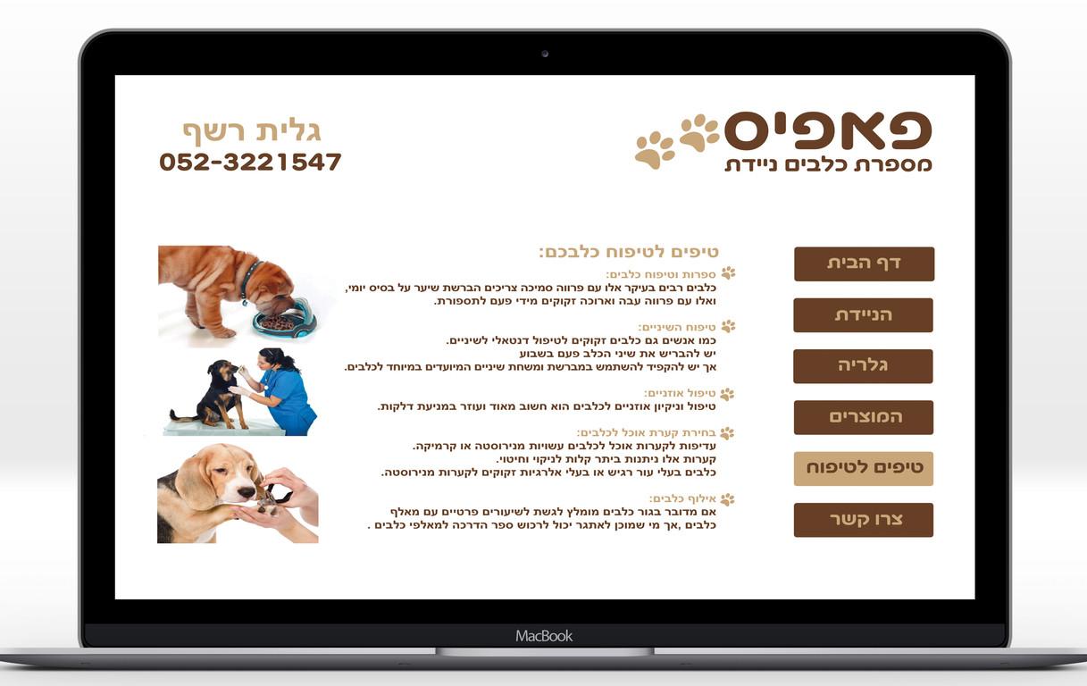 אתר מספרת כלבים- דף טיפים