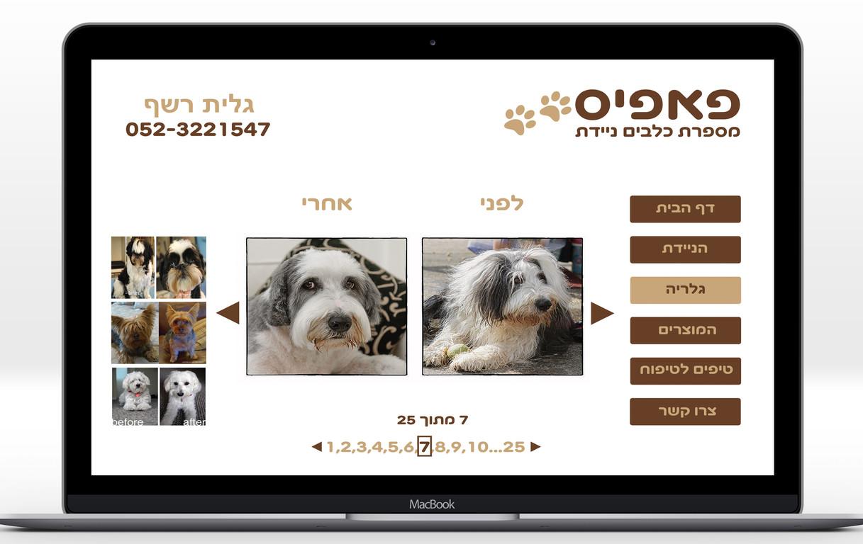 אתר מספרת כלבים- דף גלריה