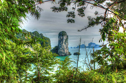 krabi island from shore