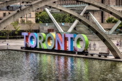 toronto sign toned
