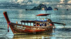 krabi boat at shore