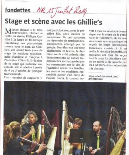 ghillie's groupe de musique Trad-folk Irlandais ghillies