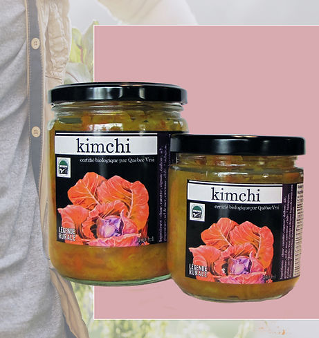 Kimchi certifié biologique de la Ferme Légnde rurale