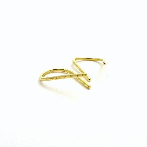 """Earrings """"Hoop Texture Gold"""""""