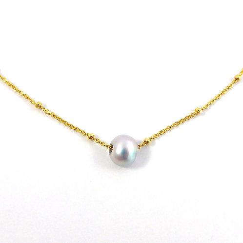 """Necklace """"Grey Pearl"""""""