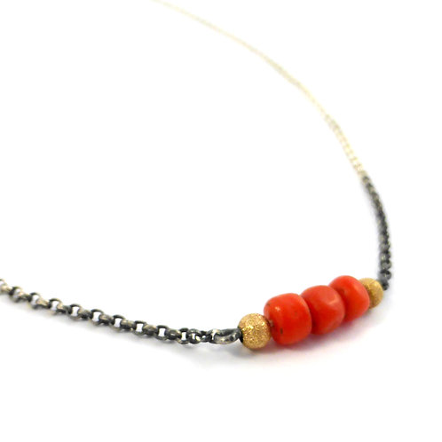 "Necklace ""Coral"""