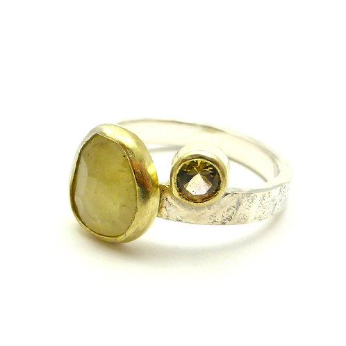 "Ring ""Yellow tourmalines"""
