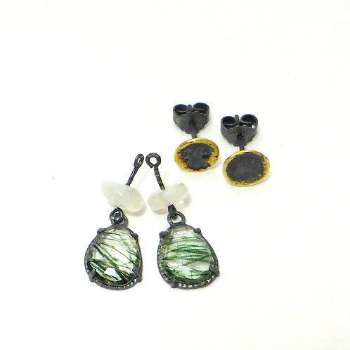"""Earrings """"Green Stars"""""""