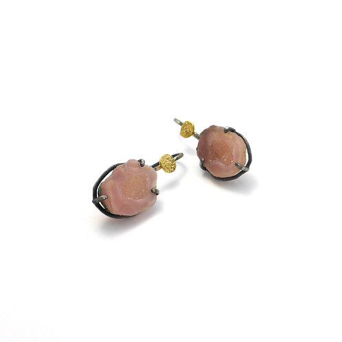 """Earrings """"Pink Geode"""""""