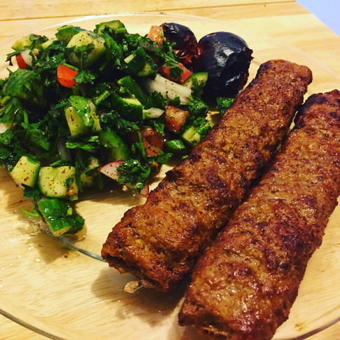 Beef Koubideh with Salad
