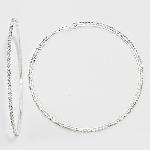 Rhinestone Hoops (Optional Colors)
