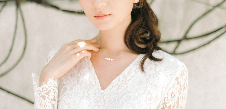 TriO Necklace with Akoya Pearl