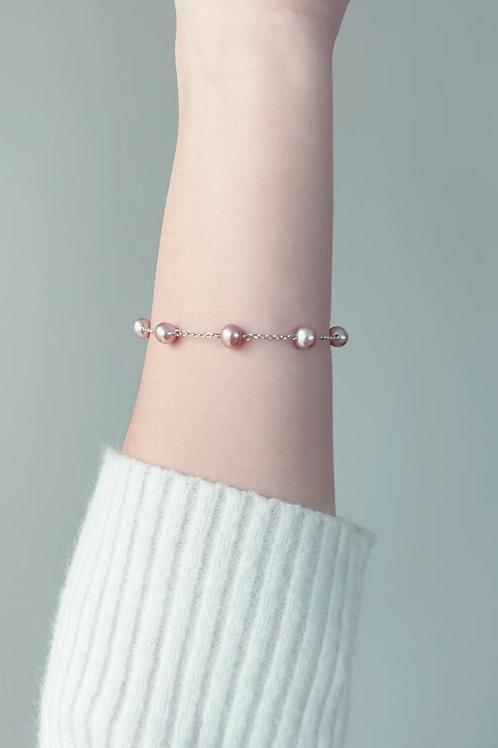 Spring Special: Pink Tin Cup Bracelet