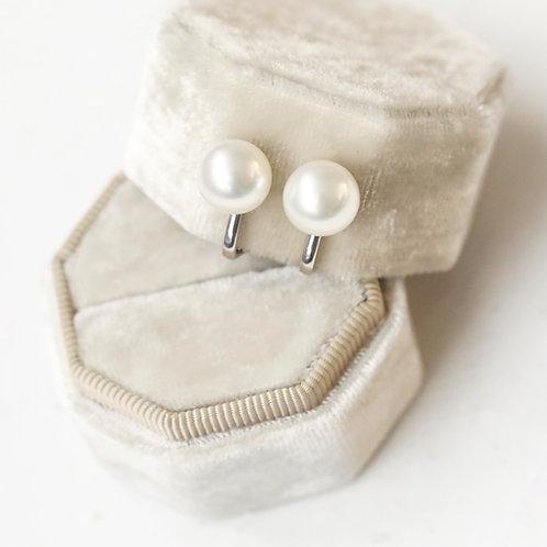 Classic Pearl Clip Earrings
