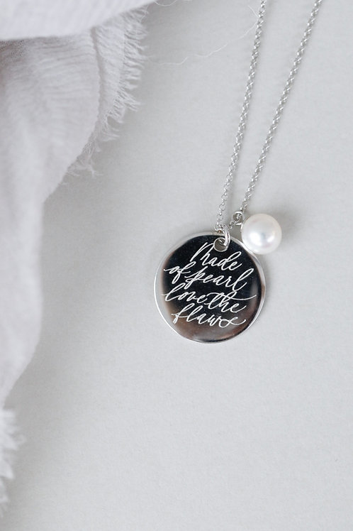 #lovetheflaws Disc Necklace