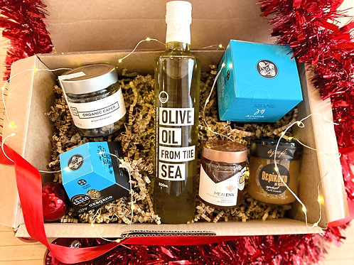 Christmas Basket Olive Oil from the Sea